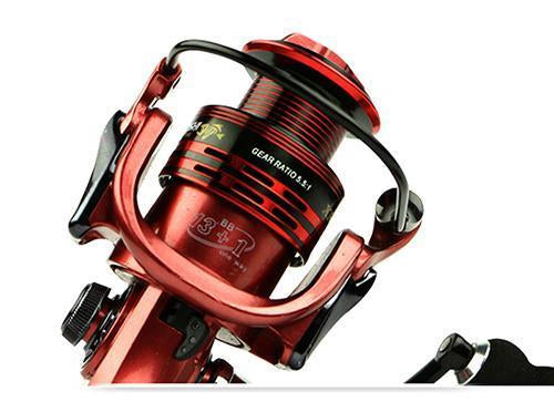 Yumoshi Wire Cup All Metal Rocker Arm 1000-7000 Series Spinning Reel Without-Spinning Reels-yumoshi Official Store-Red-1000 Series-Bargain Bait Box