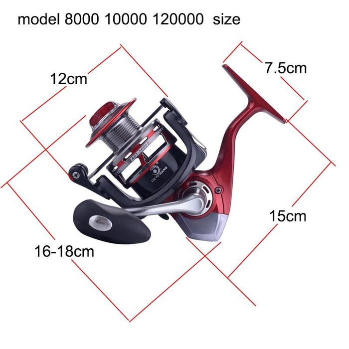 Yuyu Sea Fishing Spinning Reel Carp Fishing 8000 10000 12000 Metal Spool-Fishing Reels-YUYU Official Store-13-8000 Series-Bargain Bait Box
