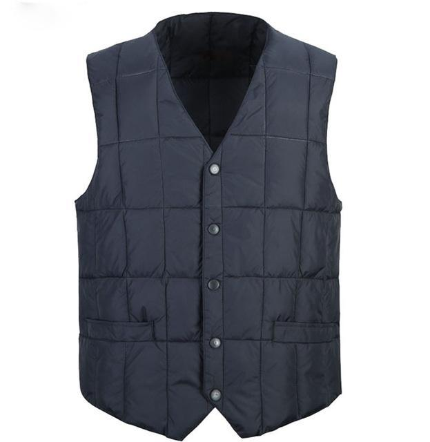 Zozowang Plus Size Cotton Vest Men Solid Casual Single Breasted Keep Warm-Vests-Bargain Bait Box-1-S-Bargain Bait Box