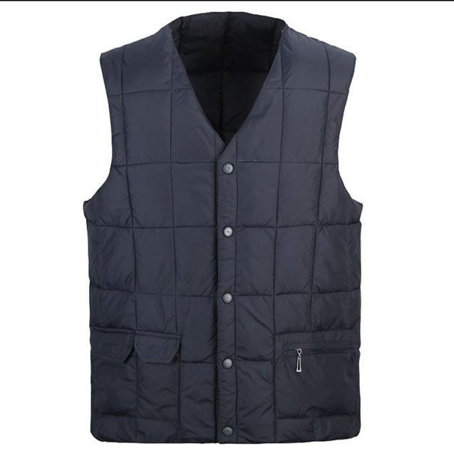 Zozowang Plus Size Cotton Vest Men Solid Casual Single Breasted Keep Warm-Vests-Bargain Bait Box-2-S-Bargain Bait Box