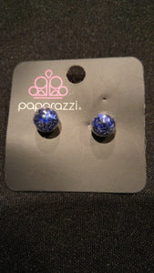 SS Earrings Stars Globe Blue