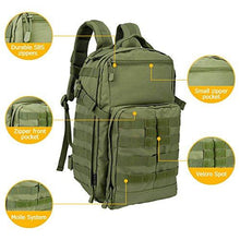 Oleader 30L Tactical Backpack Military Molle 3 Day Assault Pack Bug out Bag Rucksack for Outdoor Hiking Shooting Camping Trekking Hunting
