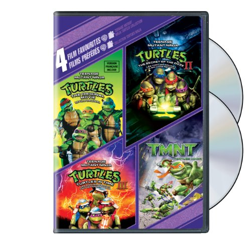 4 Film Favorites: Teenage Mutant Ninja Turtles 1, 2, 3, & TMNT (Bilingual)