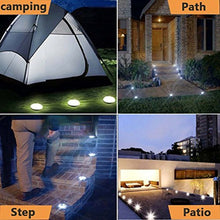 Solar Ground Light Outdoor, Kalurab Upgraded Waterproof Outdoor Solar Landscape Lighting with 8 LED,4 Pack LED Landscape Pathway Lights IP65 Waterproof Underground Solar Light for Driveway, Pathway, Patio, Lawn, Square, Pool, Yard(White)