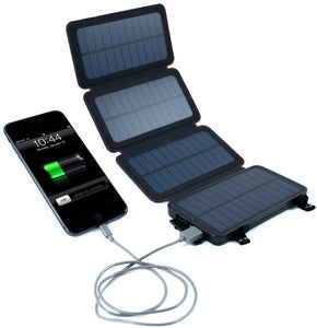 QuadraPro 5.5W Solar 4-Panel Portable Wireless Cell Phone Charger
