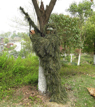 Ghillie Suit, Woodland Camouflage Forest Hunting, 4-Piece + Bag