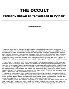 The Occult (Enveloped in Python) - Jason Steeves