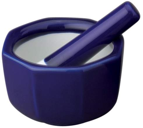 Porcelain Octagonal Mortar and Pestle 3.5-Inch
