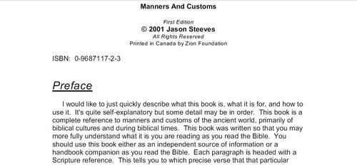 Manners and Customs - Jason Steeves