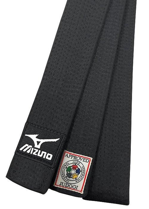 Belt, Silver Label 2015 IJF Mizuno Black Belt