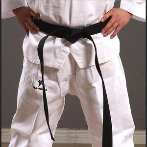 Good quality lower price cotton comfortable black level belt for man women kids martial arts