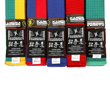 Belt, colourful white yellow red green and black professional level Martial Arts, 2.5M