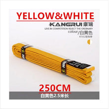 new, 100% cotton material belt, colourful white yellow red green black, professional belt, Martial Arts, 2.5M