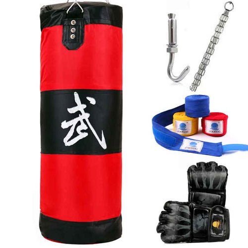 100cm Punching Bag, Fitness Sandbags, Empty Sand Bag with Chain, Martial Art Training Punch Target