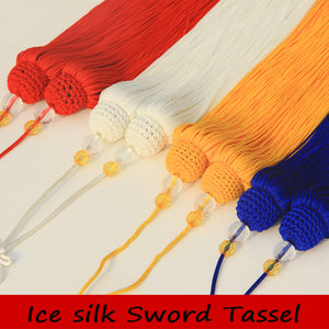 10 pcs/lot High quality tassel sword, handwork martial arts sword, 45 and 50 cm