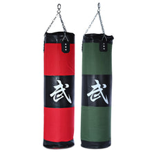 100cm Empty Punching Bag with Chain, Martial Art, Hollow Training Fitness Sandbag