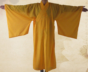Unisex Zen Buddhist Robe, Lay Monk, Meditation Gown, Monk Training Uniform