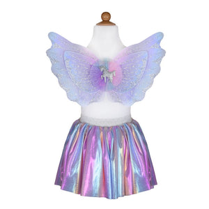 Magical Unicorn Skirt & Wings, Pastel, Size 4-6