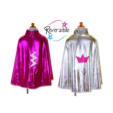 Reversible Wonder Cape - Pink & Silver
