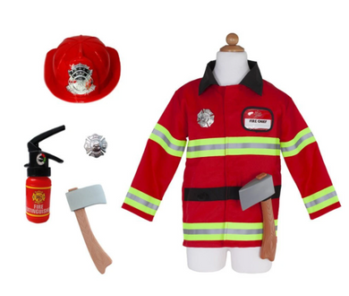 Firefighter Set Includes 5 Accessories, Size 5-6