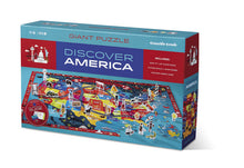 Discover America Learn + Play Puzzle 100pc
