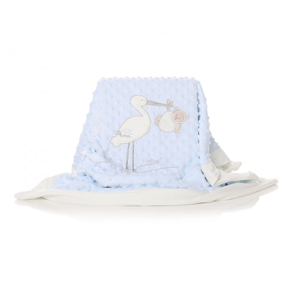 SHRUTI BABY BLANKET STORK BLUE