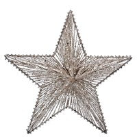 Gisela Graham Pale Gold Wire Mesh Star Metal Dec (Large)