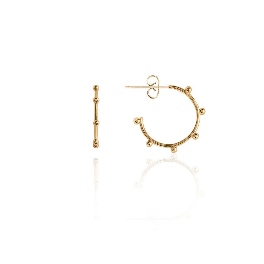 Joma Jewellery - Statement Studs Beaded Hoop Earrings