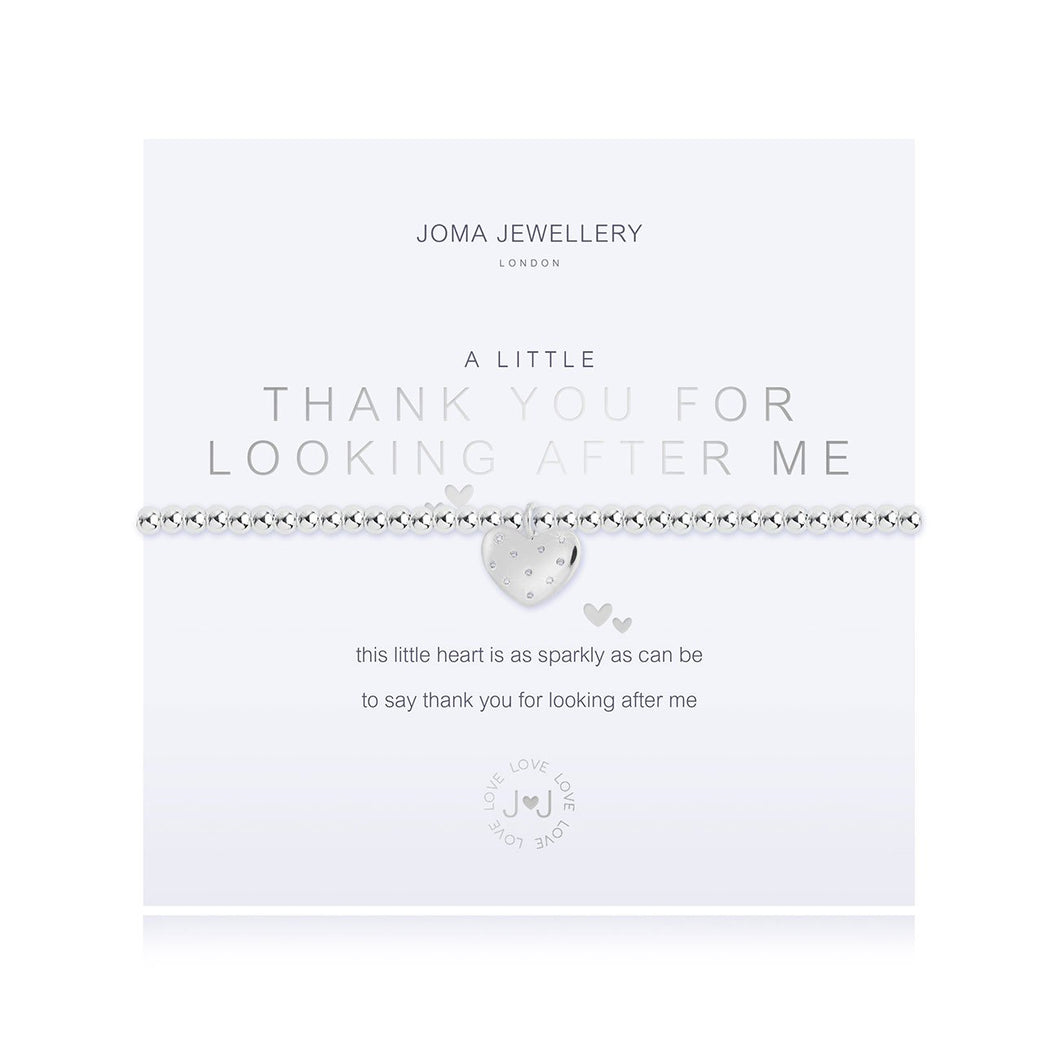 Joma Jewellery - a little Thank You For Looking After Me Bracelet