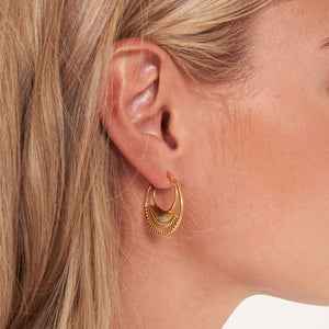 Joma Jewellery - Statement Studs Woven Hoop Earrings