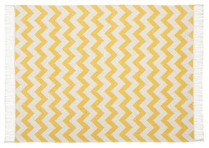 Scatter Box Ziggy Throw 127x178cm, Ochre / Grey