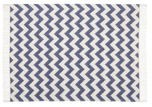 Scatter Box Ziggy Throw 127x178cm, Navy / Grey