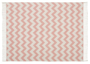 Scatter Box Ziggy Throw 127x178cm, Blush / Grey