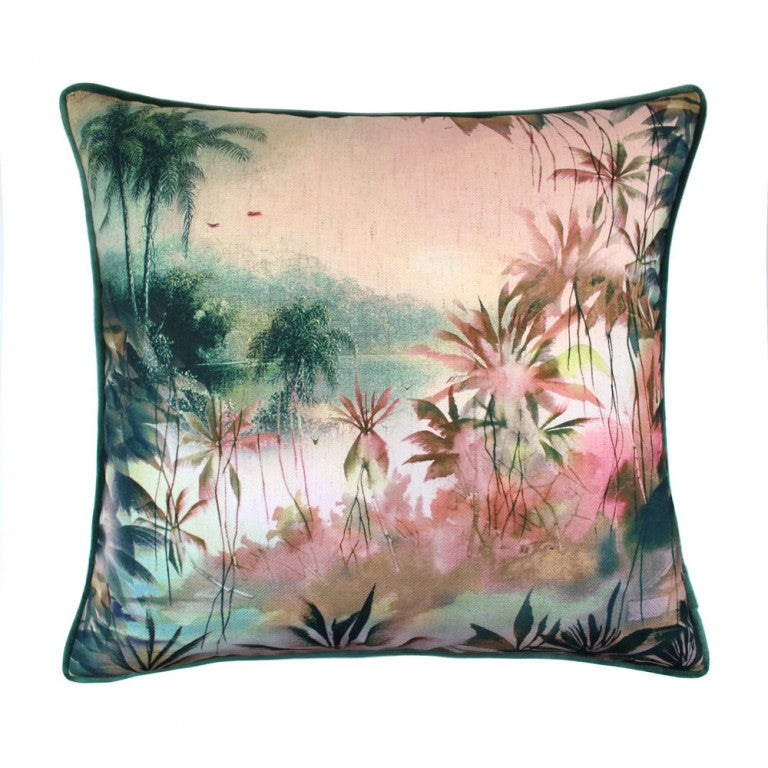 Scatter Box Babylon 45x45cm Cushion, Teal/Blush