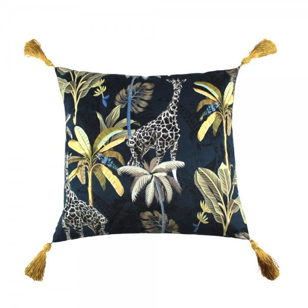 Scatter Box Simone 45x45cm Cushion, Navy/Gold
