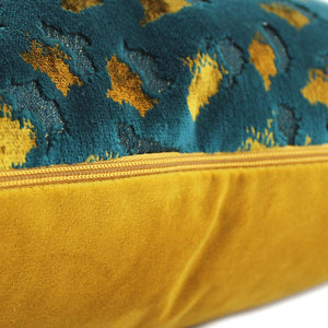 Scatter Box Harlow 43x43cm Cushion, Teal/Gold