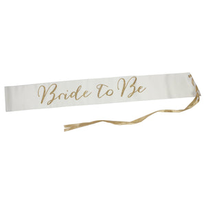 MODERN ROMANCE BRIDE-TO-BE SASH