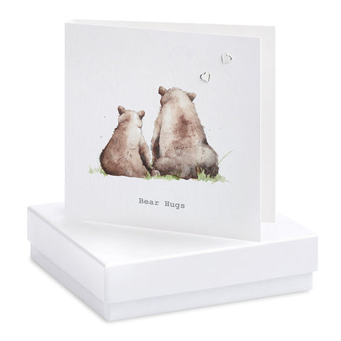 Crumble & Core Boxed Bear Hugs Earring Card