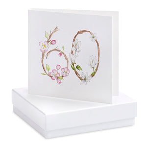 Crumble & Core Boxed Floral 60th Earring Card