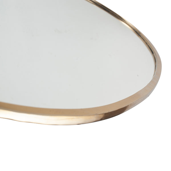 Gold Metal Oval Wall Mirror