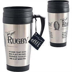 Ultimate Gift for Man - Travel Mug - Mad About Rugby