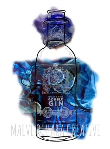 Maeve O'Hara Creative - Boatyard Gin Colourful Alcohol Illustration