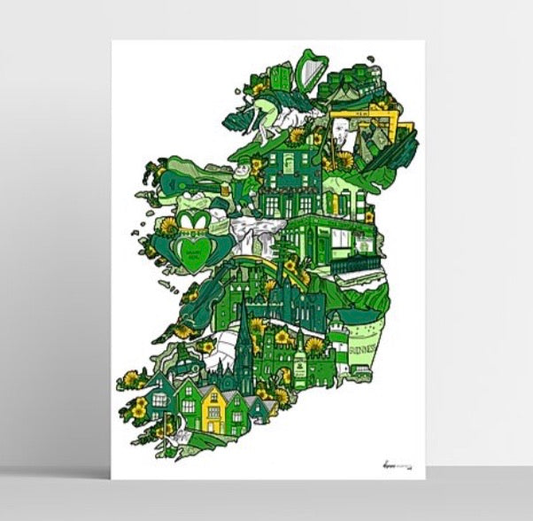 Danni Simpson Art - Ireland Map