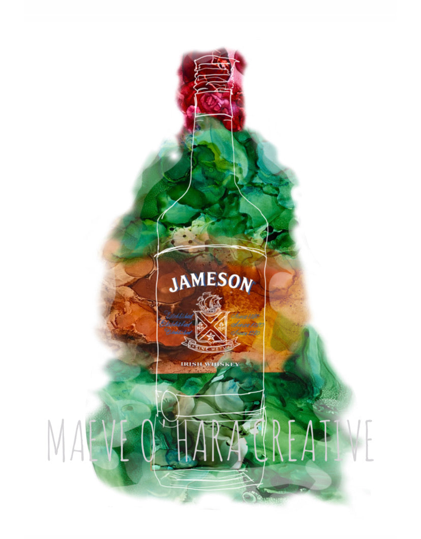 Maeve O'Hara Creative - Jameson Whiskey Colourful Alcohol Illustration