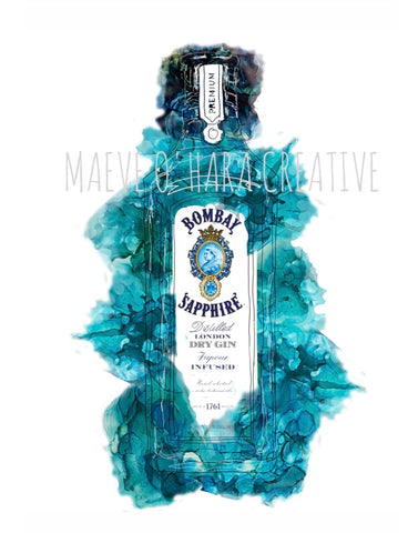 Maeve O'Hara Creative - Bombay Sapphire Colourful Alcohol Illustration