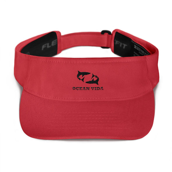 Red Visor with Black Logo