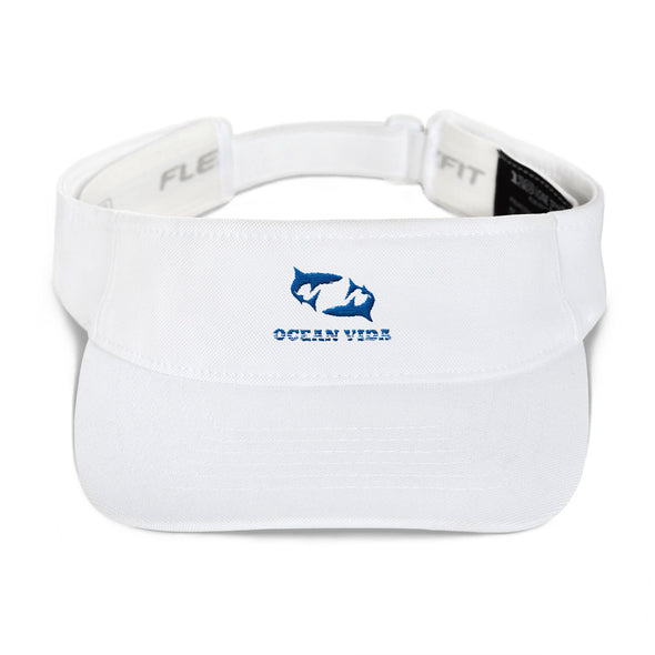 White Visor with Blue Logo