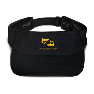 Black Visor with Yellow Logo