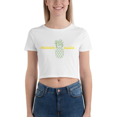 Women's Pineapple Crop Tee