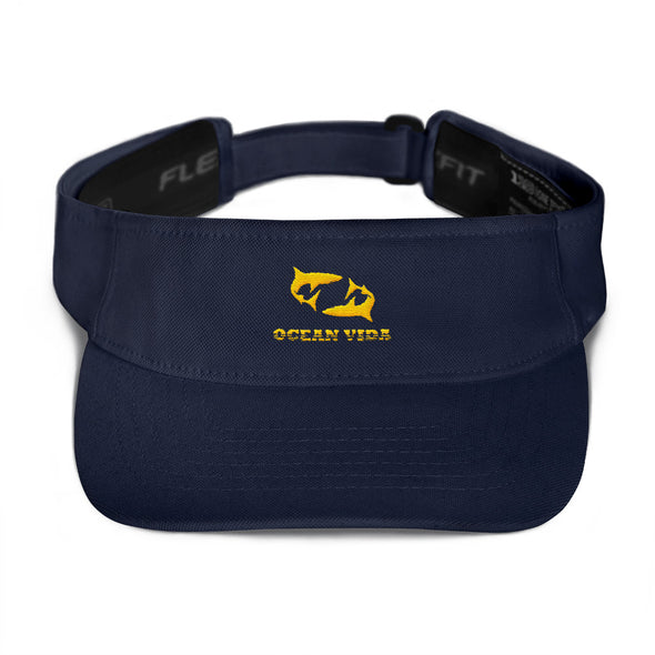 Navy Visor with Yellow Logo